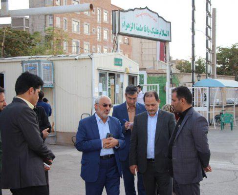 بازدید و پیگیری مشکلات بیمارستان حضرت فاطمه ص